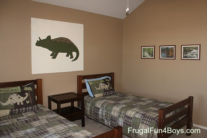 diy pottery barn kids style dinosaur art