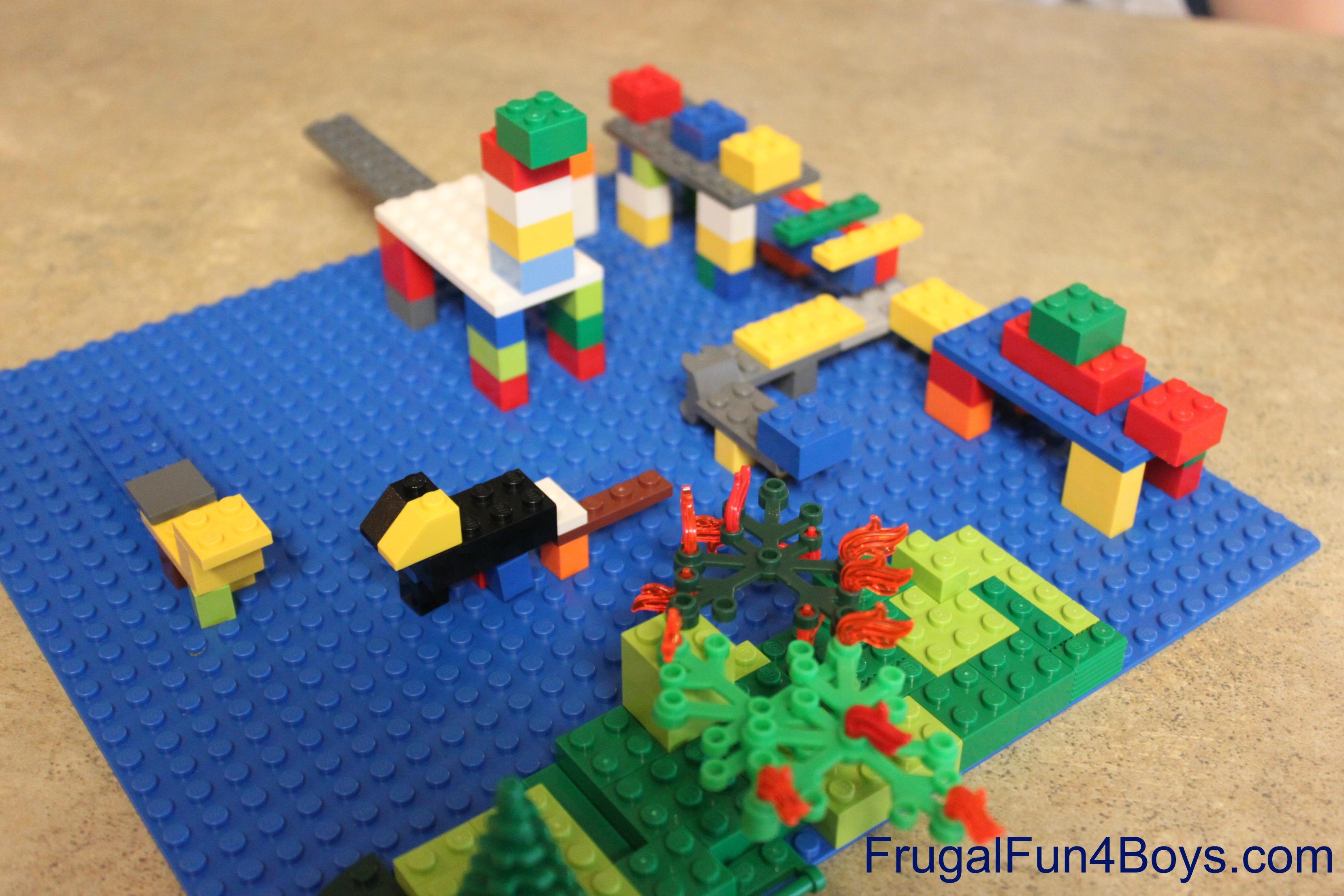 Lego Fun Friday Dinosaur Building Challenge
