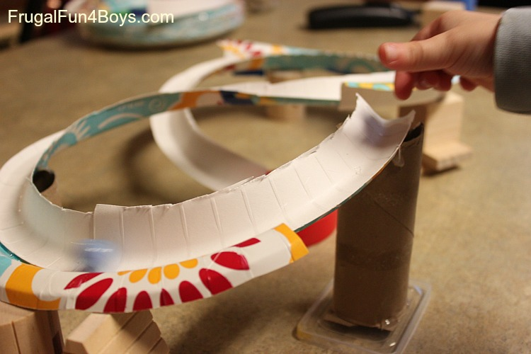 Marble track frugal fun for boys all for the boys for How to make a paper car that rolls