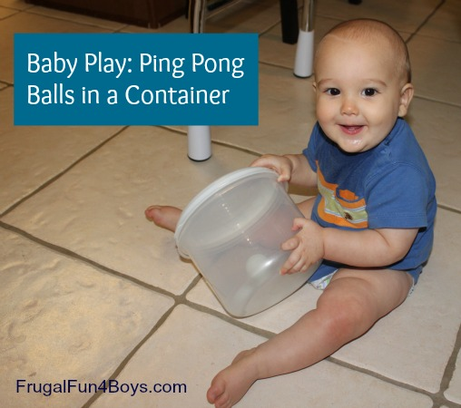 Baby Play: Ping Pong Balls in a Container