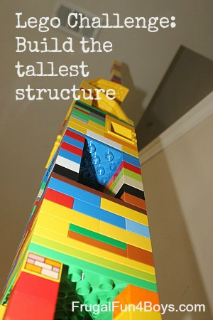 Lego Fun Friday Challenge:  Tallest Structure