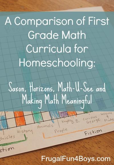 First Grade Math: Curriculum Comparison