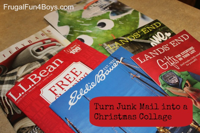 Turn Catalogs into a Christmas Collage