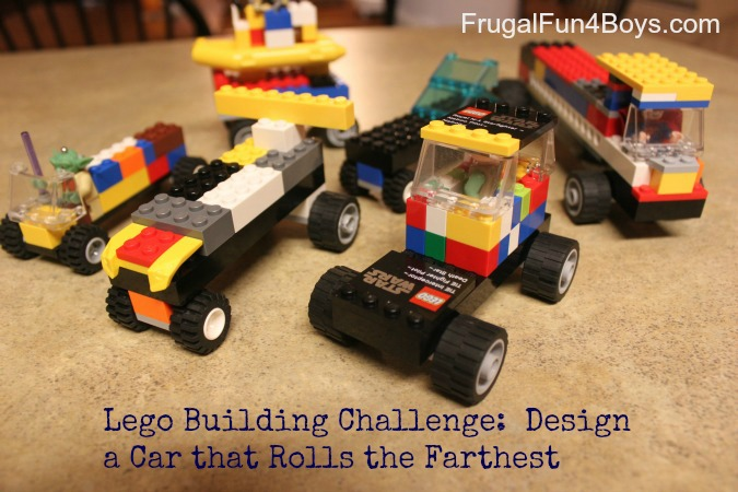 lego fun friday build a car that rolls the farthest. Black Bedroom Furniture Sets. Home Design Ideas