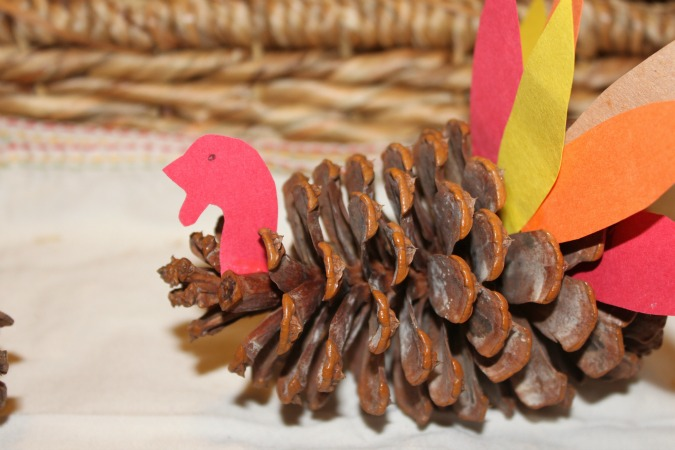 pinecone turkey craft pine cone turkeys 2686