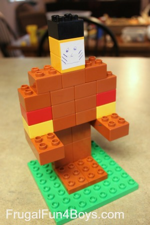 Thanksgiving Creations with Duplo Legos