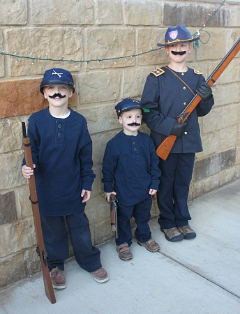 Union Soldier Costumes Frugal Fun For Boys And Girls