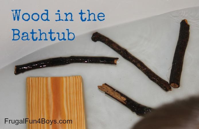 Wood in the Bathtub!