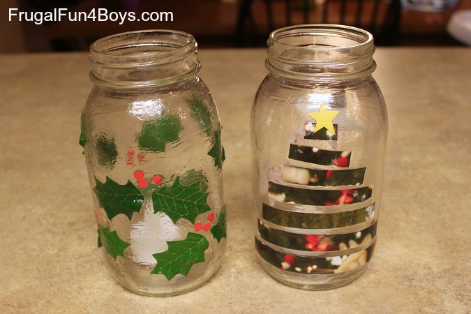 Easy DIY Christmas Candle Jars