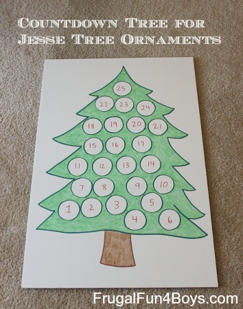 Christmas Countdown Tree (for Jesse Tree Ornaments)