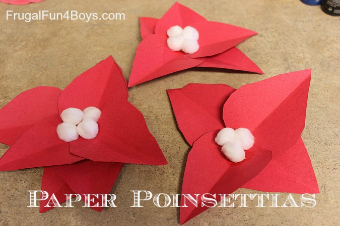 Construction Paper Poinsettias