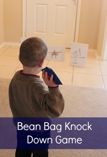 Bean Bag Knock Down Game