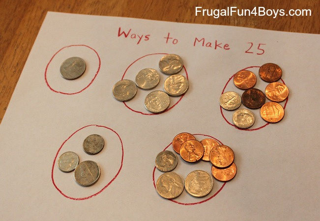 four activities for coin counting practice frugal fun for boys and