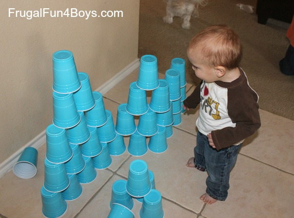 Vertical Bowling (with plastic cups!)