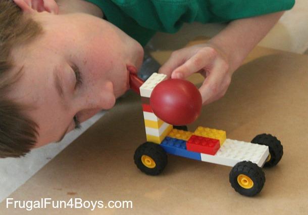 Lego Fun Friday: Balloon Powered Car Challenge