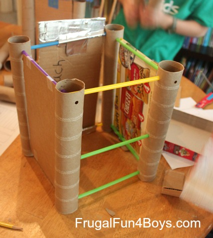 Building activity for kids straws and paper towel rolls for Easy things to make out of paper for kids