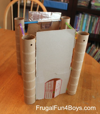 Building Activity for Kids: Straws and Paper Towel Rolls
