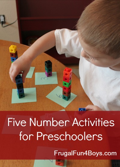 Five Number Activities for Preschoolers