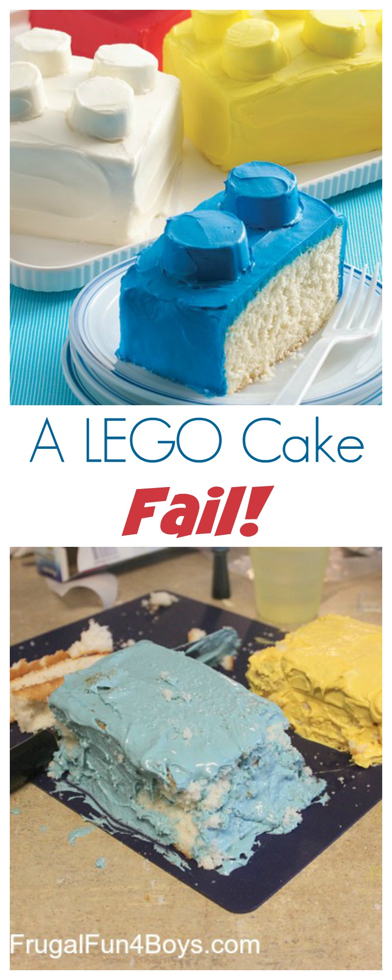 A LEGO Cake FAIL!!