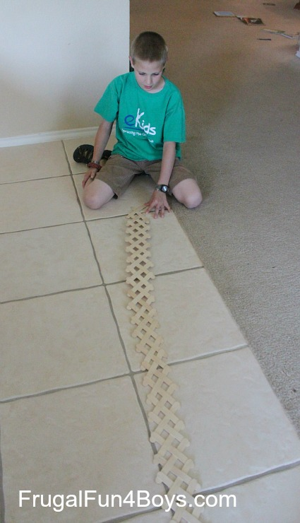 Build an exploding chain reaction with craft sticks!