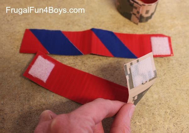 Duct Tape Craft - Velcro Arm Bands!