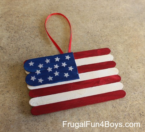 Popsicle Stick Flag Craft Frugal Fun For Boys And Girls