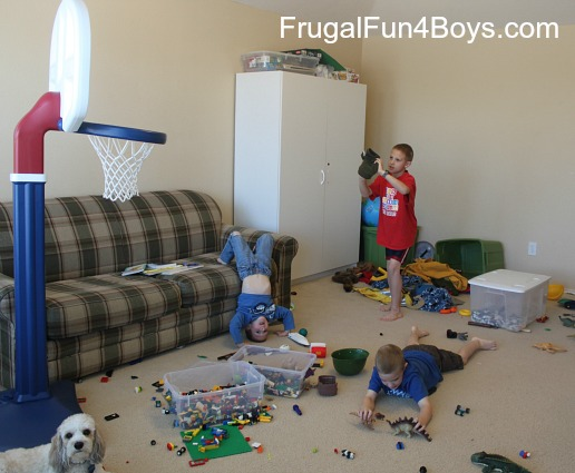 Mom vs. The Boys.  How I do things, and how they do them!