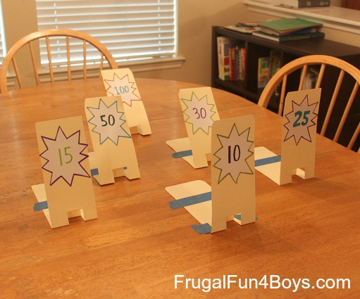 Make a Nerf shooting range out of file folders