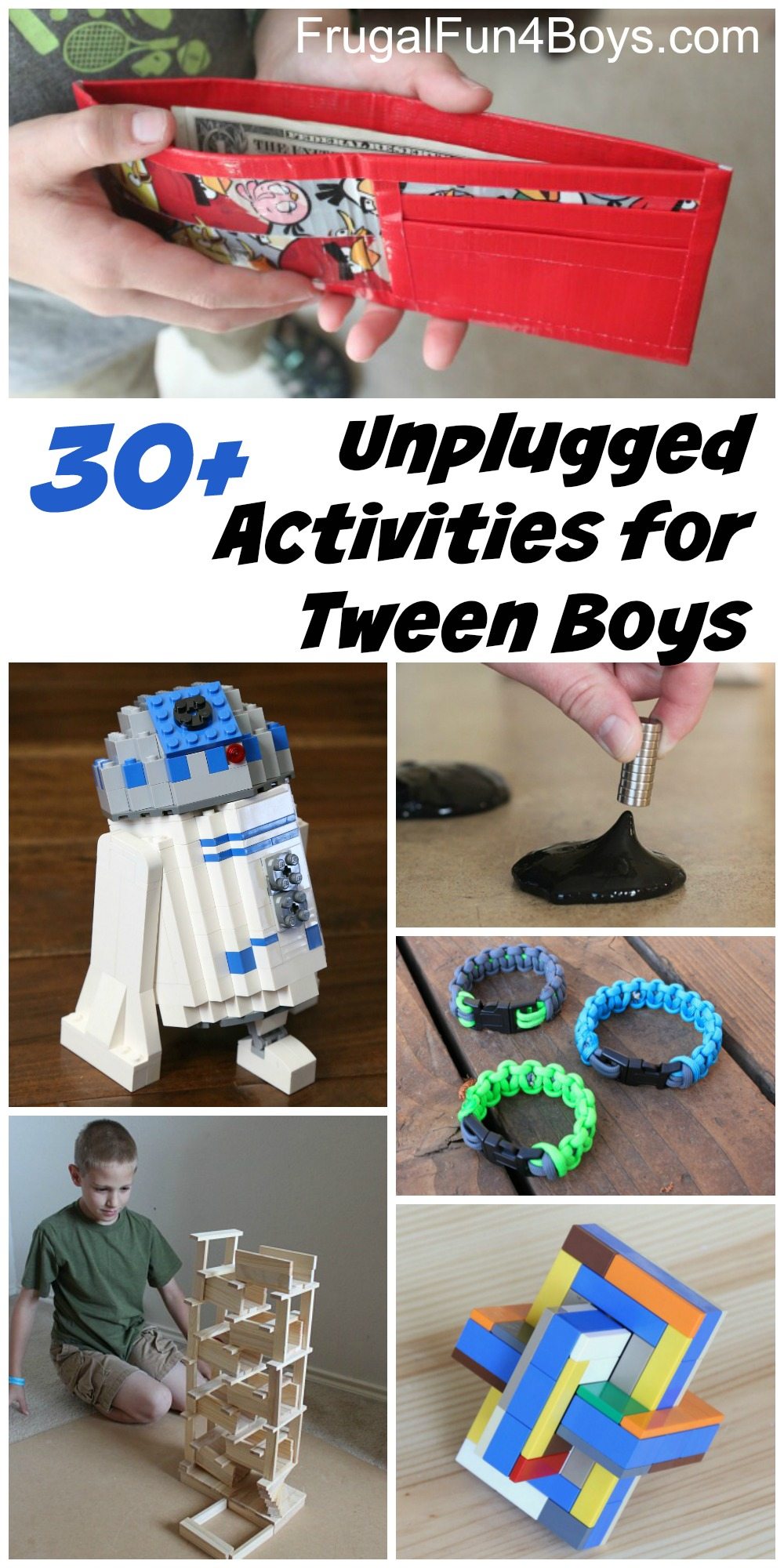 20+ Unplugged Activities for Tween Age Boys - Frugal Fun For Boys ...