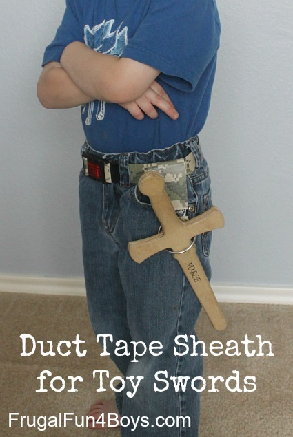 Make a duct tape sheath for toy swords