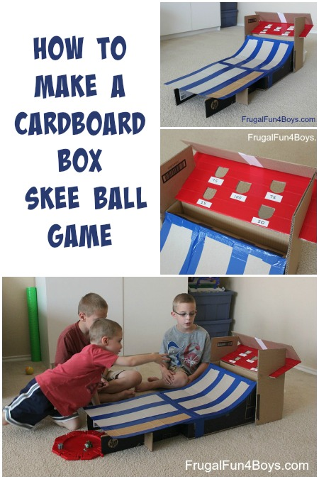 How to Make a Cardboard Box Skee Ball Game