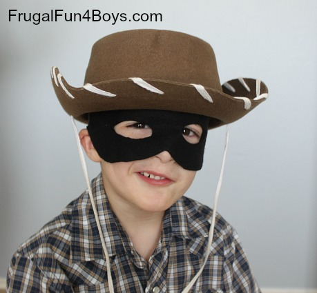 Make your own Lone Ranger mask - free printable pattern included!