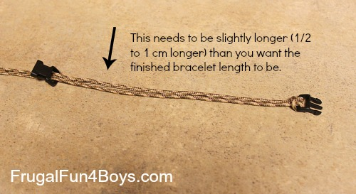 How to make a parachute cord bracelet