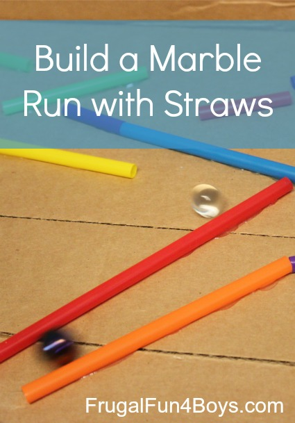 Build a marble run with straws