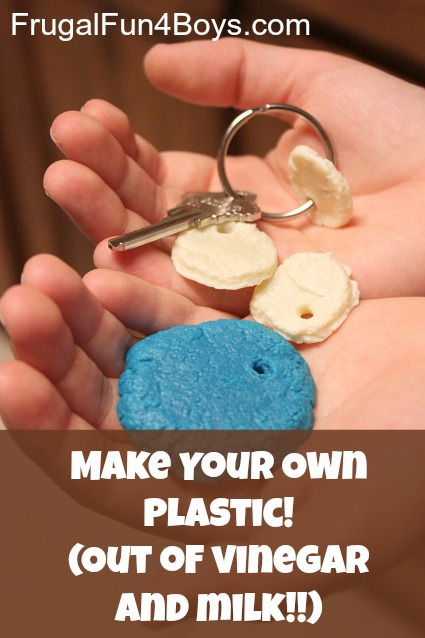 Make Your Own Plastic Out of Vinegar and Milk