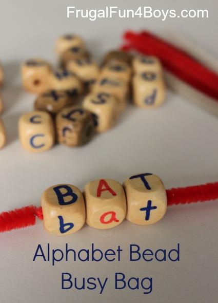 Alphabet Beads Busy Bag