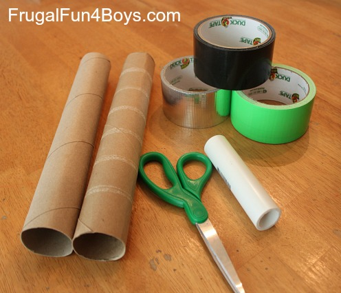 Duct tape lightsabers craft for Easy things to make out of paper for kids