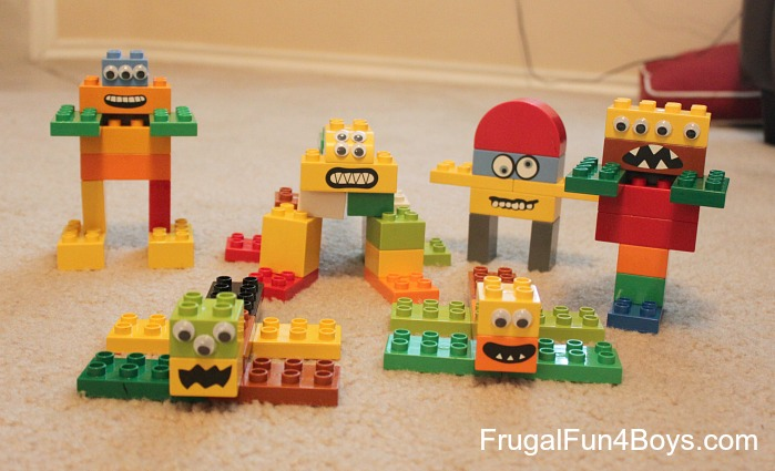 DIY Duplo Lego Monsters Building Set