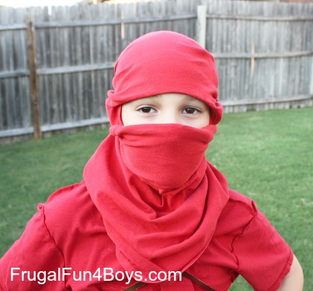 How to turn a t shirt into a ninja mask with no cutting or sewing turn a t shirt into a ninja mask ccuart Image collections