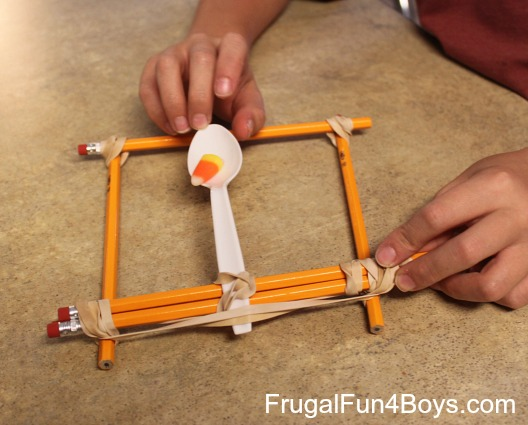 Candy corn catapults four ways to build a catapult out for Fun stuff to make with household items