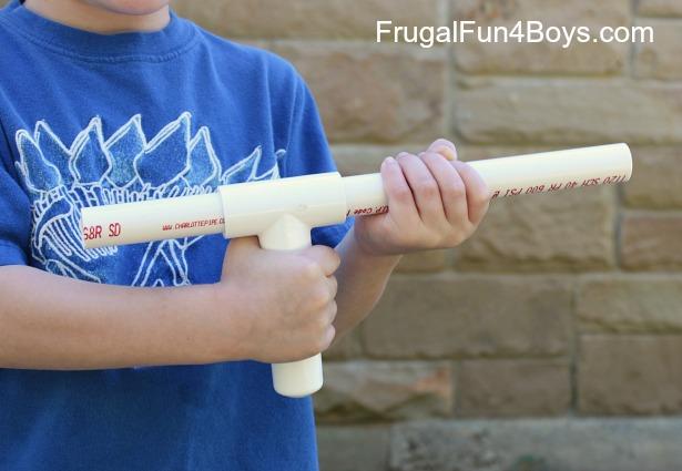 Make a marshmallow gun with pvc pipe