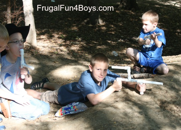 Make a marshmallow gun out of PVC pipe