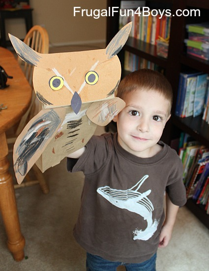Great Horned Owl Puppets