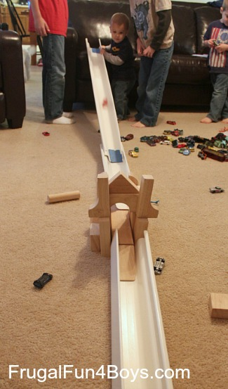Wooden Block Car Races