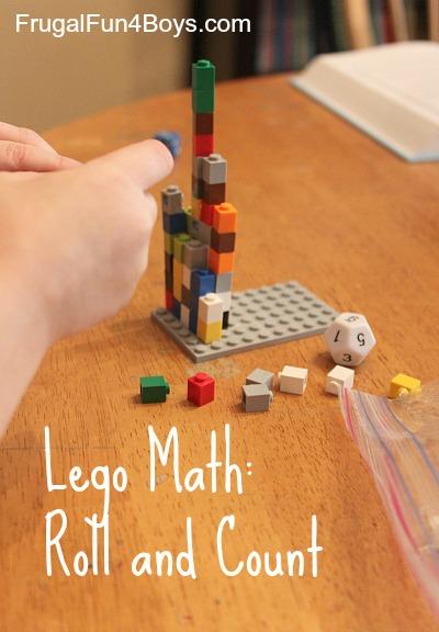 Lego Math: Preschool Roll and Count