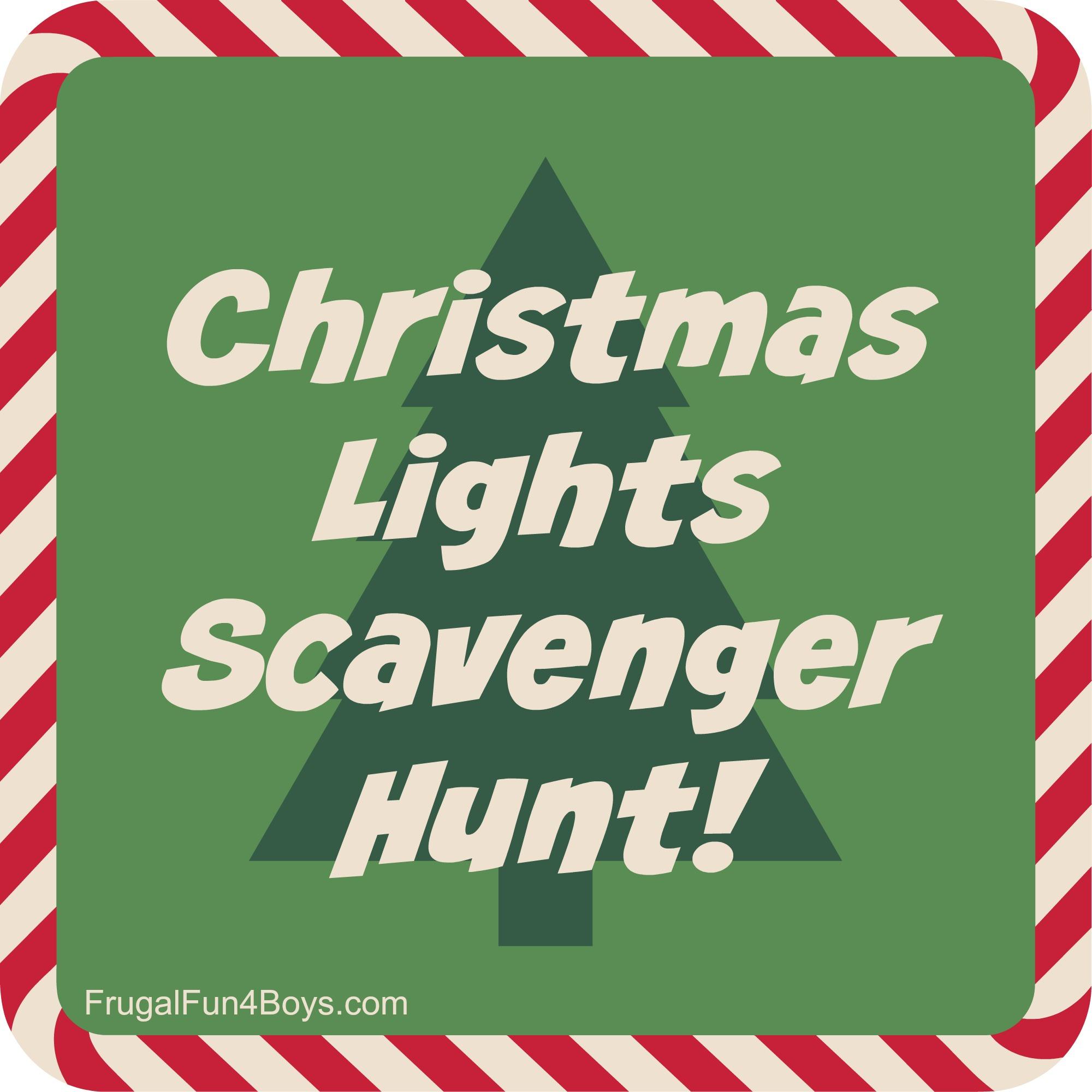 Printable Christmas Lights Scavenger Hunt