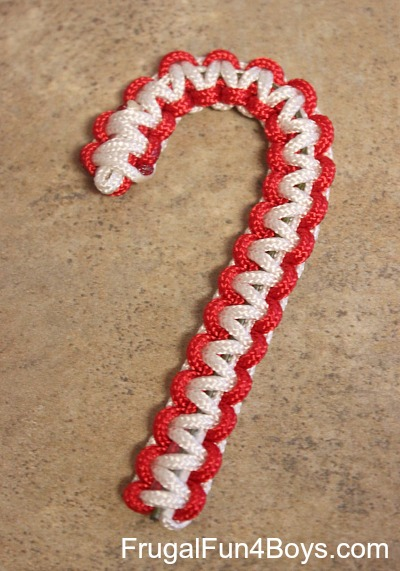 Parachute Cord Candy Cane Ornaments