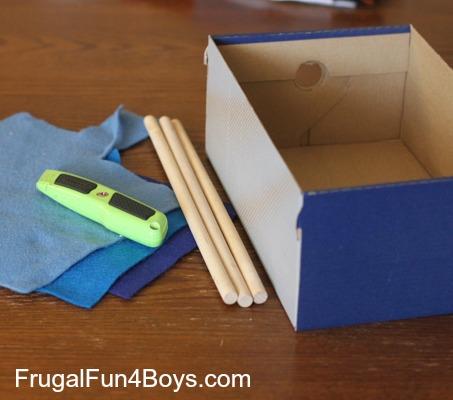 Turn A Cardboard Box Into A Car Wash For Hot Wheels