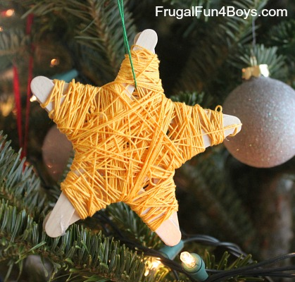 Popsicle Stick Star Ornament