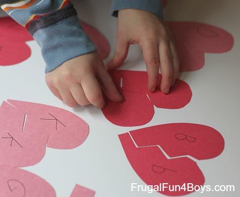 Heart Match-up Alphabet Game